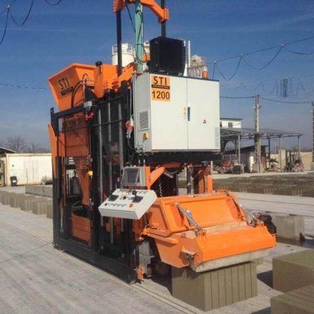 STI 1200-(H) betonelem gyártó, zsalukő gyártógép